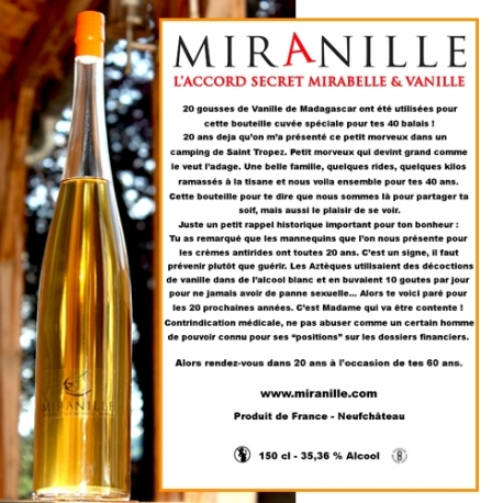 Miranille 150 cl ETIQUETTE PERSONNALISEE